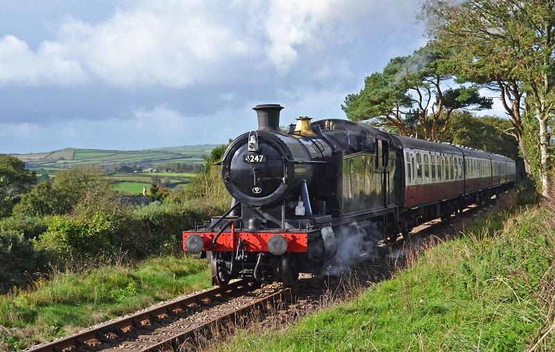 Steam Train on the Bodmin & Wenford Railway