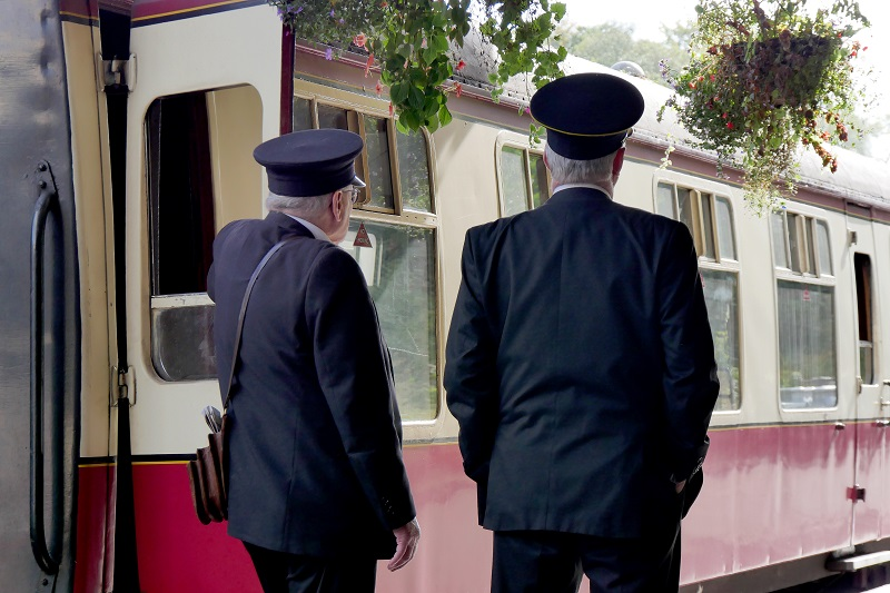 Staff on the Station Platform at Bodmin General Station
