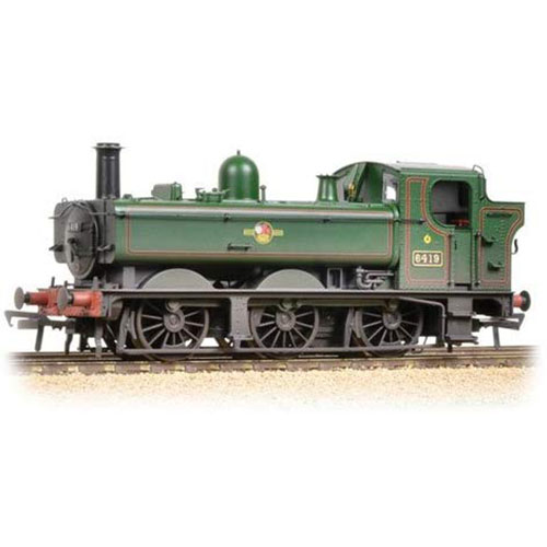 Bachmann 31-638 Class 64xx Pannier Tank BR Lined Green (Late) Weathered