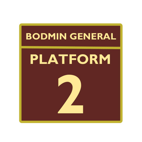 Bodmin and Wenford Railway Platform 2 Badge