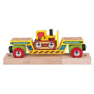 Bigjigs Bulldozer Low Loader