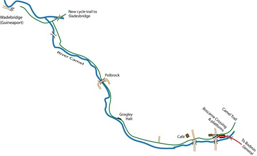 Boscarne to Wadebridge route