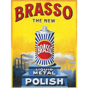 Brasso Metal Wall Sign