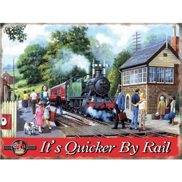 It's Quicker By Rail
