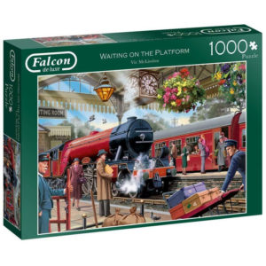 Waiting on the platform jigsaw puzzle